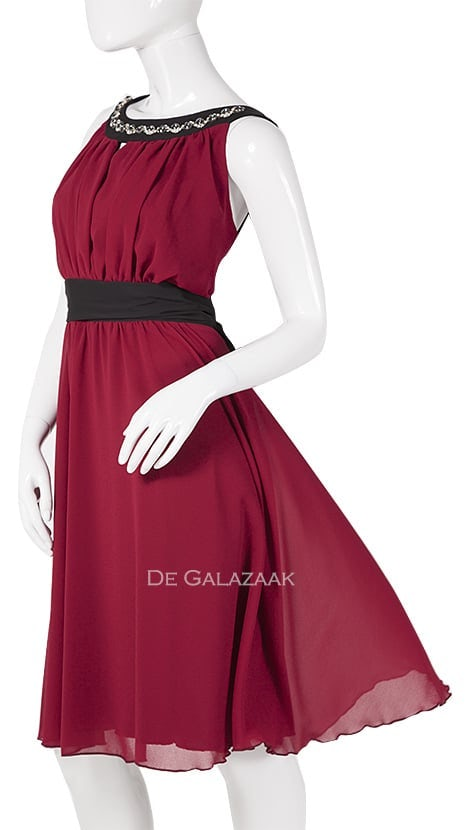 Cocktailjurk in rood  2479 - Paris Collection
