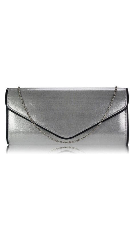 Clutch zilver metallic   2704