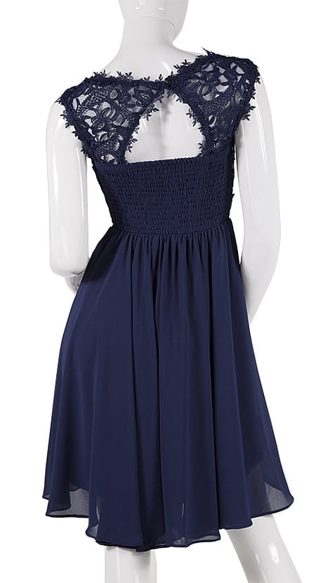 Navy blauw cocktailjurkje  4006 - Downtown Girl