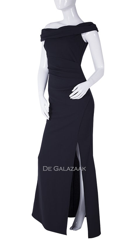 Zwarte off-shoulder jurk 4616 - City Goddess galajurken en cocktailjurken