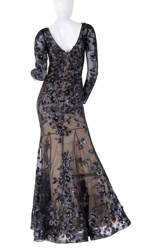 Zwarte couture avondjurk 4893 - Magic Nights