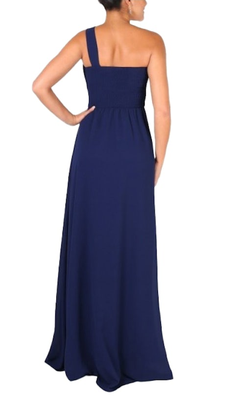 Donkerblauwe one-shoulder dress - 5293 - Downtown Girl