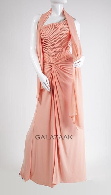 Galajurk one-shoulder zalm  3122 - Magic Nights