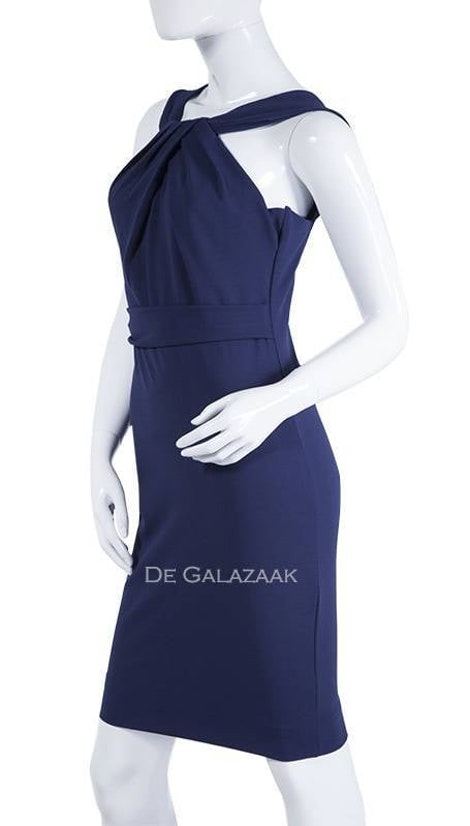 Navy blauwe basic cocktailjurk 3554 - City Goddess galajurken en cocktailjurken