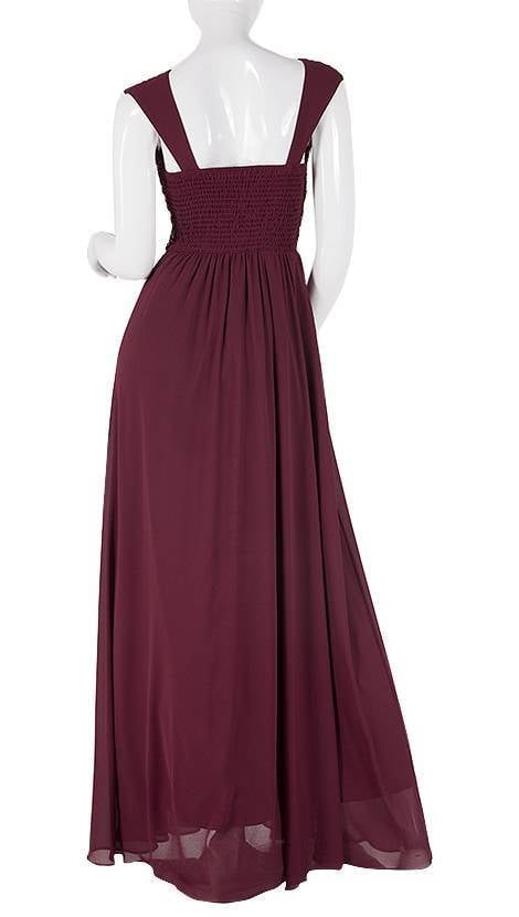 Lange galajurk in bordeaux-rood  3781 - Downtown Girl