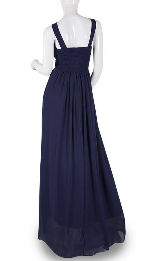 Navy blauwe avondjurk 3797 - Downtown Girl