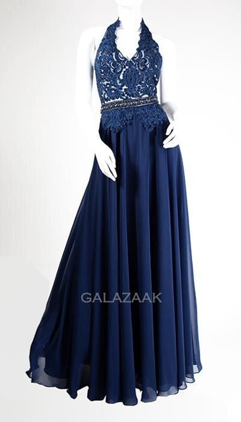 Galajurk in navy met halter 3032 - Magic Nights