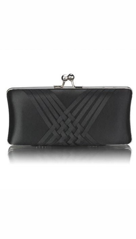 Clutch zwart satijn 3362 - GLZK tasjes en clutches