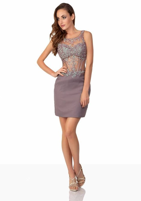 Mauve party-dress  3754 - Uptown Girl