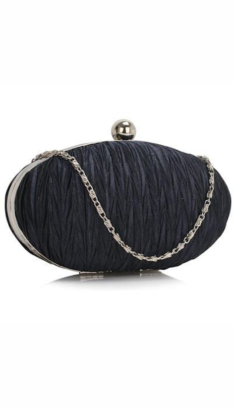 Clutch ovaal navy 3154 - GLZK tasjes en clutches