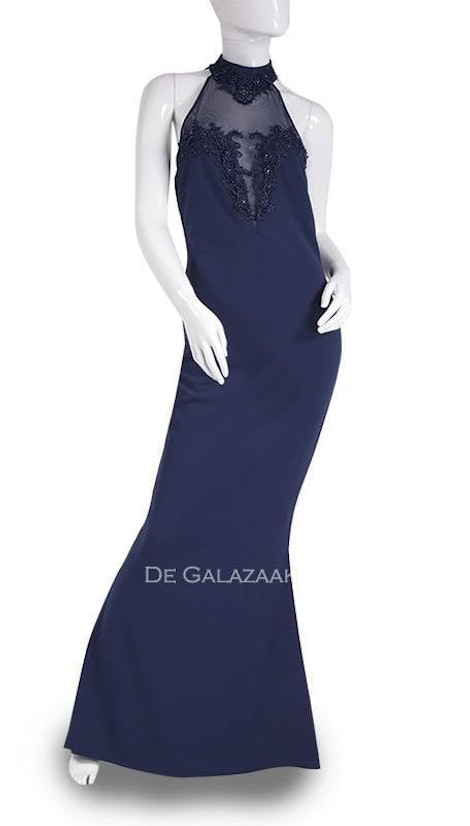 Avondjurk in navy blauw 3612 - City Goddess galajurken en cocktailjurken