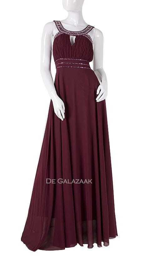 Galajurk in bordeaux-rood  3878 - Downtown Girl