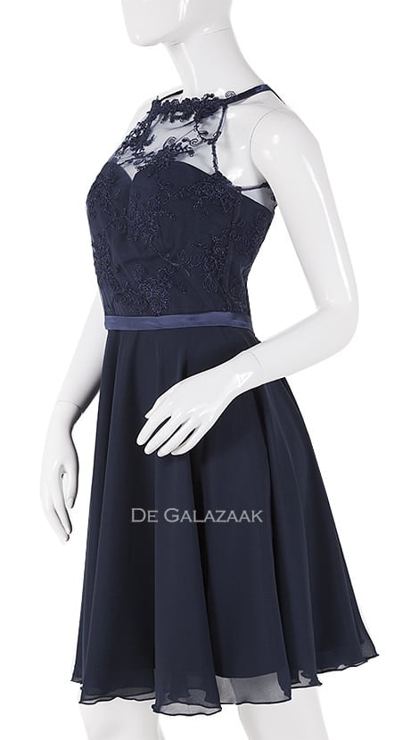 Cocktailjurk navy-blauw  3872 - Paris Collection