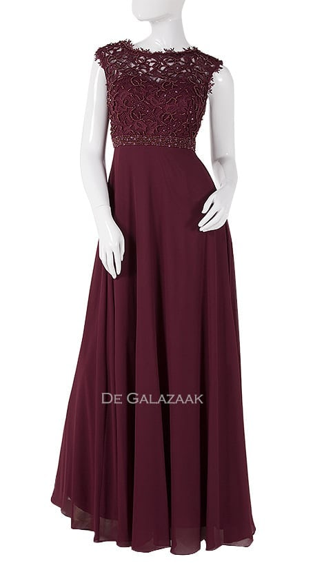 Galajurk in bordeaux rood  3882 - Downtown Girl